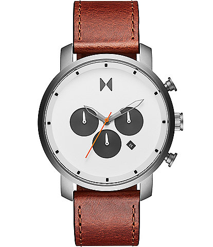 MVMT Chrono Sienna Tan Leather Watch