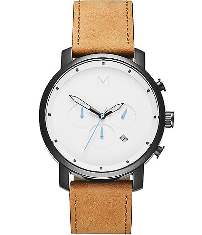 MVMT Chrono Tan Leather Watch