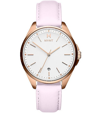 MVMT Coronada Rose Leather Watch