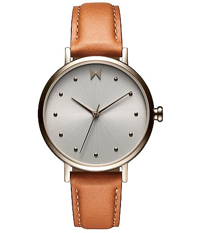 Mvmt Dot Nomad Tan Leather Watch