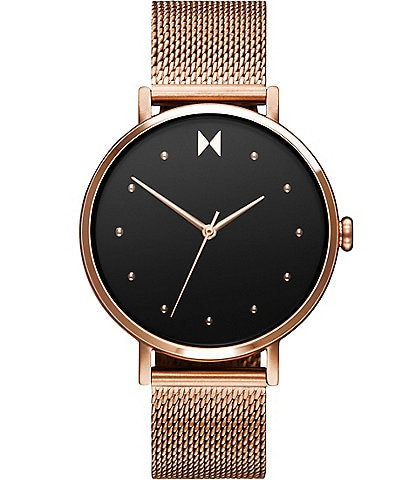 MVMT Dot Spark Rose Gold Stainless Steel Mesh Bracelet Watch
