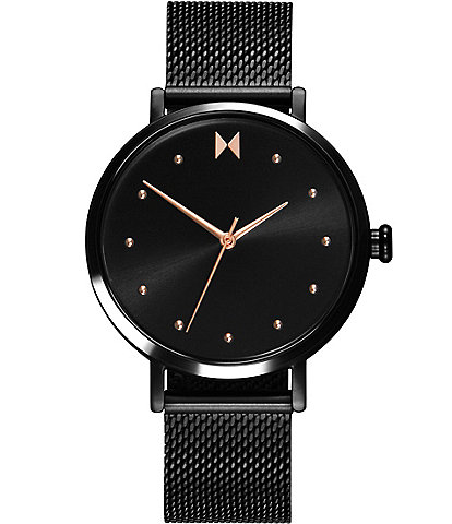 MVMT Dot Spin Black Stainless Steel Mesh Bracelet Watch
