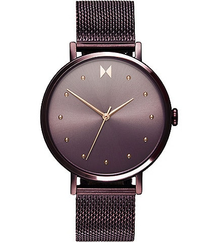 MVMT Dot Vibe Purple Stainless Steel Mesh Bracelet Watch