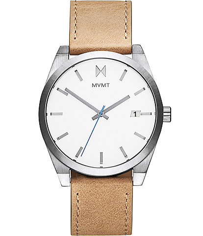 MVMT Element Alkali Tan Leather Watch