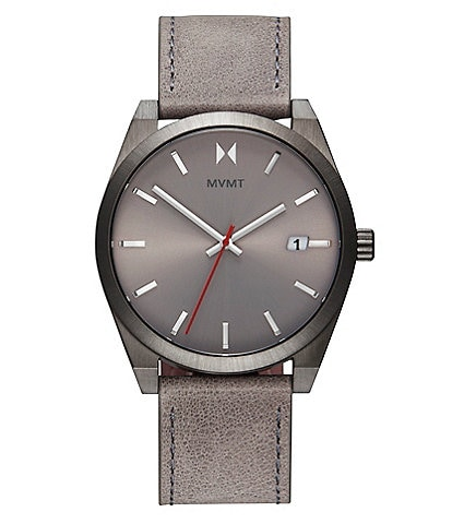 MVMT Element Radium Grey Leather Watch