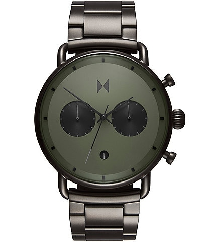 MVMT Men's Blacktop Collection Rallye Green Gunmetal Quartz Chronograph Watch