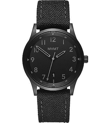 MVMT Men's Void Tactical Nylon Canvas Strap Watch