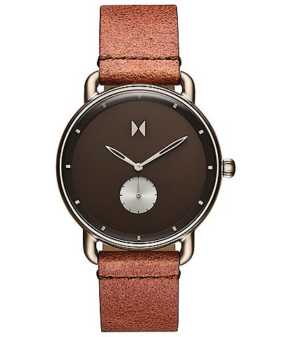MVMT Nomad Revolver Leather Strap Watch