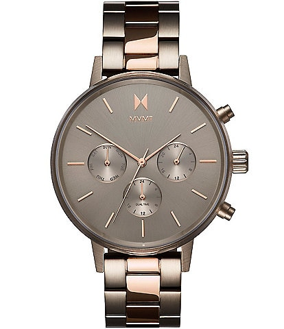 MVMT Nova Collection Orion Two Tone Multifunction Bracelet Watch