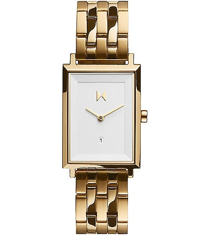 MVMT Signature Square Charlie Gold Stainless Steel Bracelet Watch