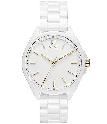 MVMT Women's Coronada White Ceramic Bracelet Watch