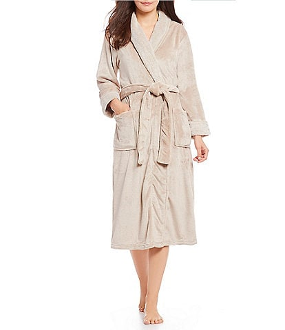 N by Natori Cashmere Fleece Long Wrap Robe