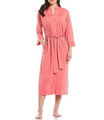 N by Natori Congo 3/4 Sleeve Long Wrap Robe