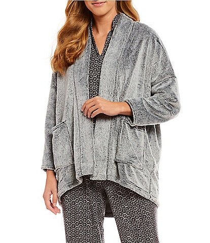 N by Natori Frosted Cashmere Fleece Lounge Topper
