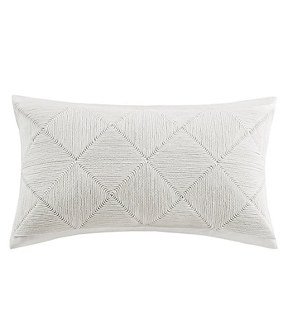 N by Natori Grid Rope Breakfast Pillow