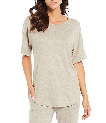 N by Natori Mirage Solid Cozy Knit Coordinating Lounge Top