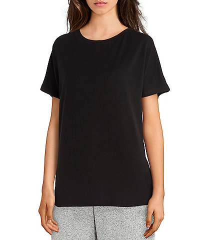 N by Natori Nvious Solid Split-Back Knit Lounge Top