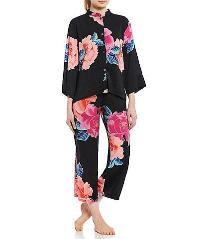 63bdc6f15d N by Natori Peony Blossom Silky Satin Pajama Set