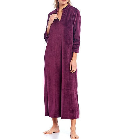 N by Natori Solid Velour Long Lounger