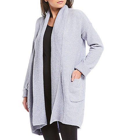 N Natori Chenille Open Front Lounge Cardigan