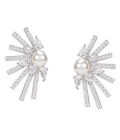 Nadri Ambrosia Pearl Stud Earrings