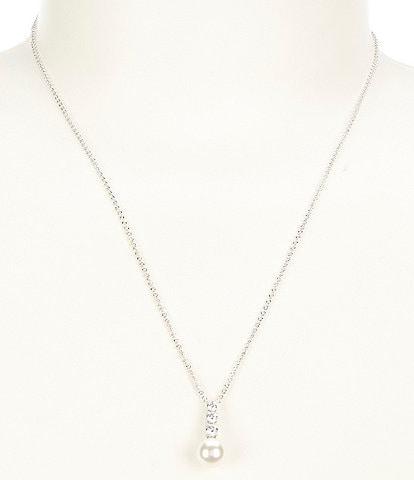 Nadri Camila Pearl and CZ drop necklace