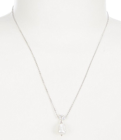 Nadri Chloe Pearl Drop Necklace