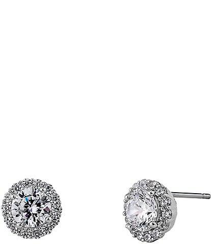 Nadri Crystal Pav Stud Earrings