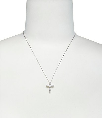 Nadri Cubic Zirconia Cross Pendant Necklace