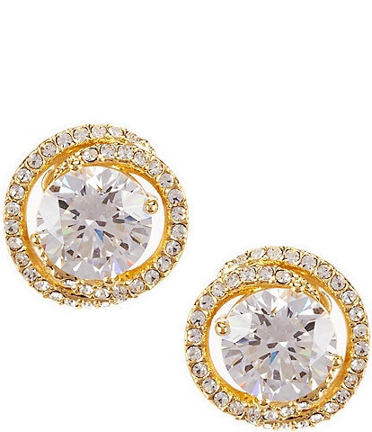 Nadri Cubic Zirconia Pav Stud Earrings