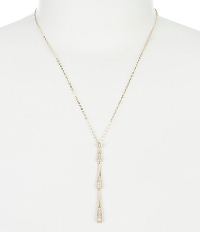 Nadri Dappled Y Necklace