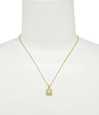 Nadri Framed Cushion-Cut Cubic Zirconia Pendant Necklace