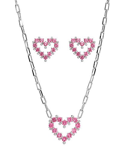 Nadri Heart Earrings and Necklace Set
