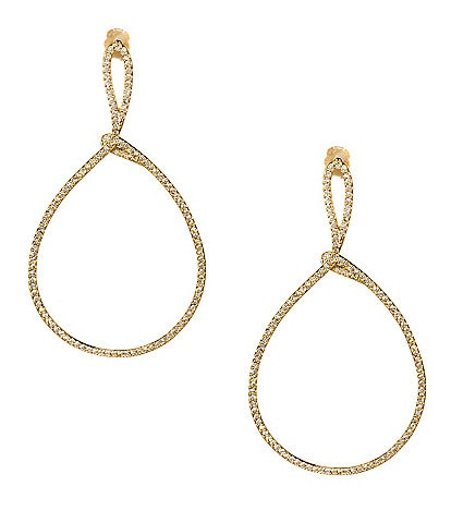 Nadri Lupita Pav Drop Hoop Earrings
