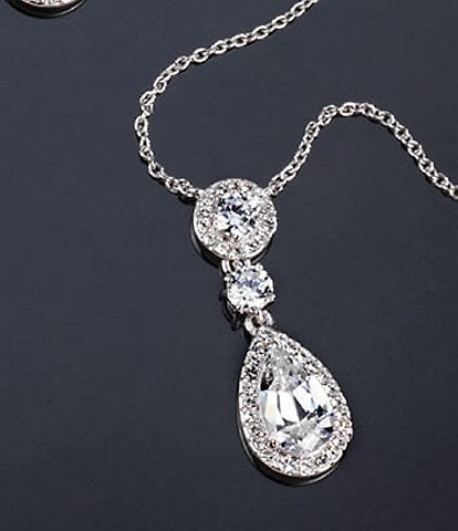 Nadri Multi Cubic Zirconia Pendant Necklace