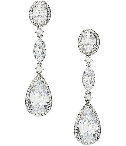 Nadri Oval Cubic Zirconia Drop Earrings 7046ff7850