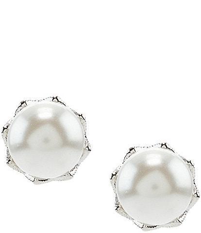 Nadri Faux-Pearl Stud Earrings