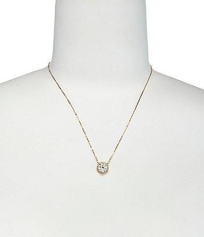 Nadri Round Cubic Zirconia Pendant Necklace