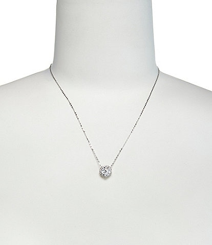 b00943958 Nadri Round Cubic Zirconia Pendant Necklace