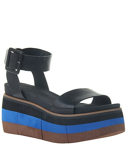 Naked Feet Altezza Leather Layered Platform Wedge Sandals