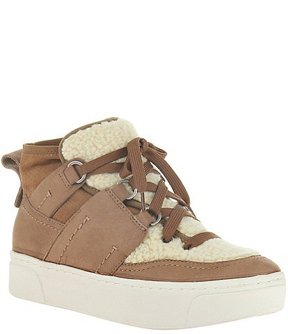Naked Feet Evolution Faux Shearling Trim Sneakers