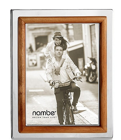 Nambe Hayden 5#double; x 7#double; Glass and Wood Frame