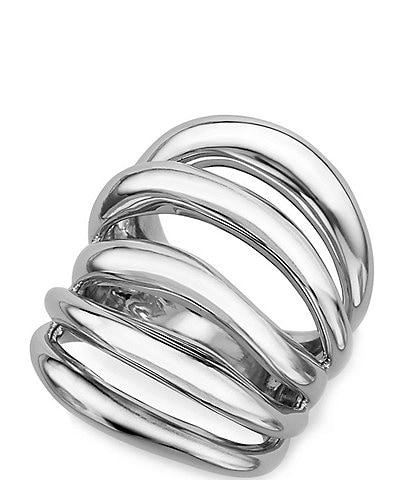 Nambe Multi Band Layered Ring