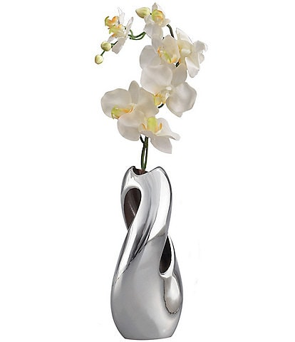 Nambe Pebble Twist Alloy Bud Vase