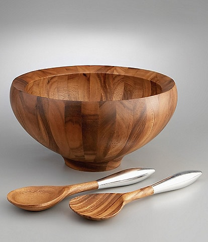 Nambe Yaro Salad Bowl with Servers