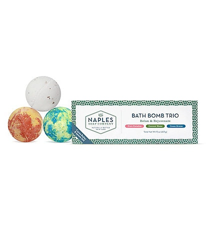 Naples Soap Company Relax & Rejuvenate Bath Bomb Trio