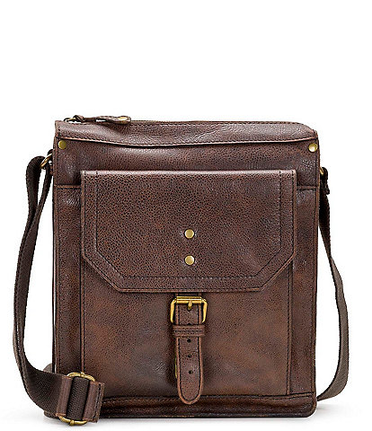 Nash Tuscan II North/South Leather Crossbody Bag