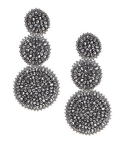 Natasha Accessories Beaded Drop Earrings