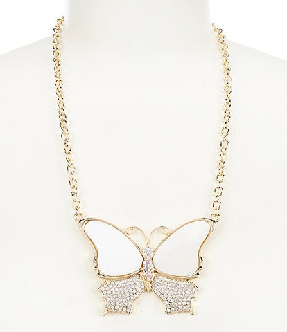 Natasha Accessories Butterfly Pendant Necklace