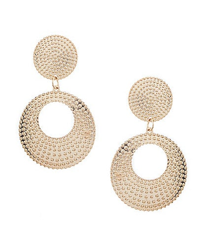 Natasha Accessories Dotted Double Drop Earrings